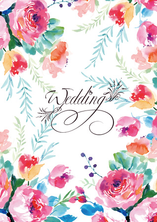 Illustrated Watercolor wedding flower