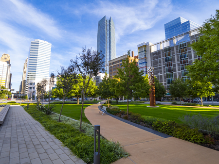 Photo for Bicentennial Park in Oklahoma City - downtown district - Royalty Free Image