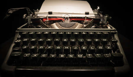 Photo pour Writing a letter on an old typewriter - very nostalgic - image libre de droit