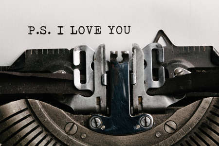 Photo for I love you written by a typewriter - Royalty Free Image