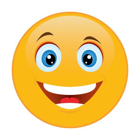 Illustration pour Smiley emotion of joy - image libre de droit