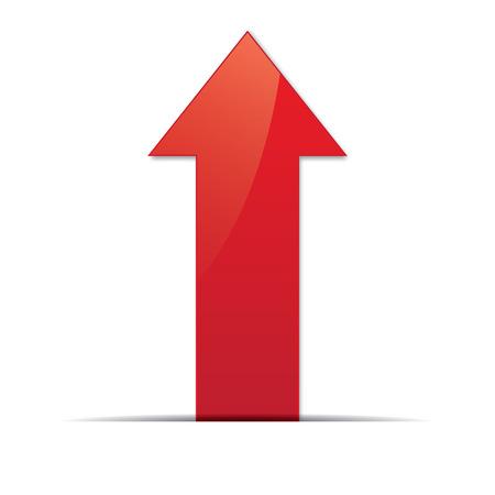 Illustration pour Red arrow. Vector - image libre de droit