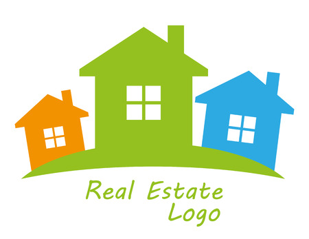 Real estate symbolical image isolated on white background