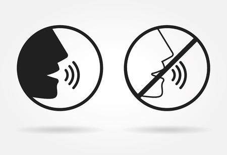 Illustration pour Talking icon - image libre de droit