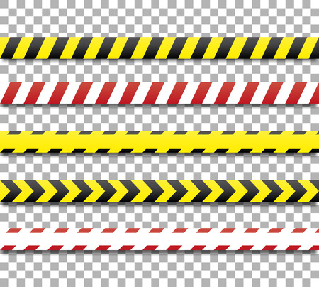 Police line and danger tape. Caution tape