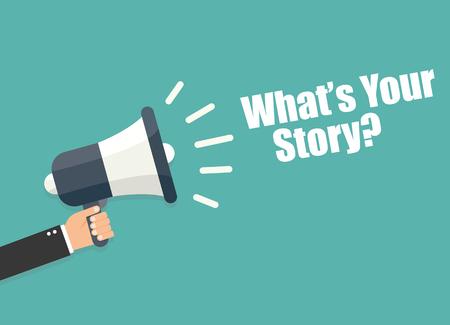 Illustration pour What's your story - image libre de droit