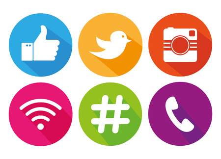 Illustration for Icons for social networking vector - Royalty Free Image