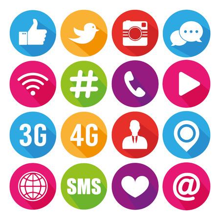 Illustration pour Icons for social networking vector - image libre de droit