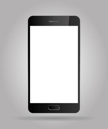 Realistic mobile phone smartphone