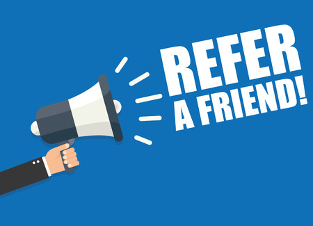 Illustration for Refer a Friend - Royalty Free Image