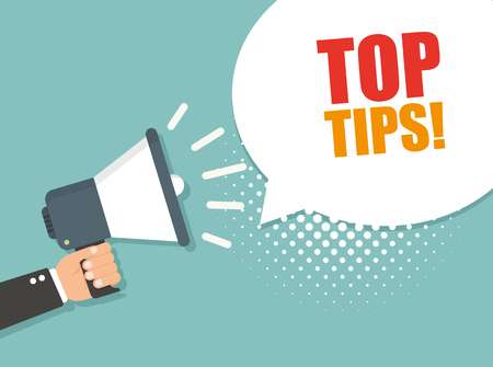 Illustration for Top tips. Vector illustration - Royalty Free Image