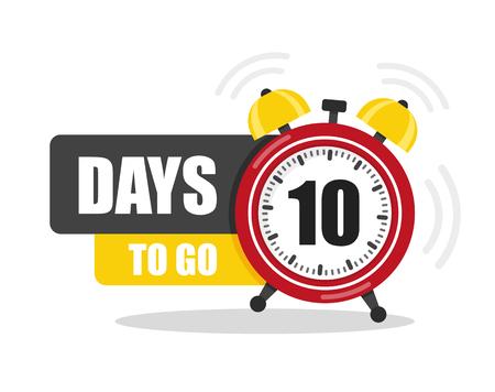 Ilustración de Number of days to go flat icon. Vector stock flat illustration - Imagen libre de derechos