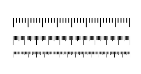 Illustration pour Measuring scale, markup for rulers. Vector illustration icon - image libre de droit
