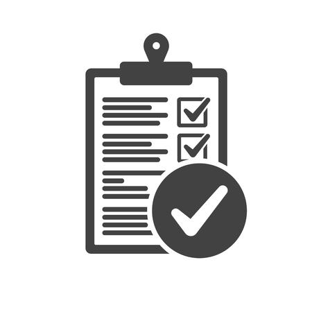 Photo pour Clipboard and check mark vector icon. Compliance regulations rules flat - image libre de droit