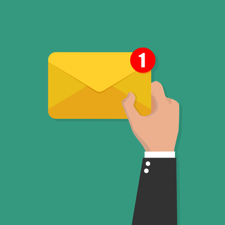Illustration pour Email or SMS Email and incoming messages concept vector - image libre de droit
