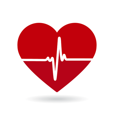 Illustration for Heartbeat line vector icon. Cardiogram, health logo - Royalty Free Image