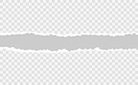 Illustration pour Torn paper edges, vector illustration - image libre de droit