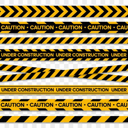 Illustration for Tapes for restriction and dangerous zones. Vector illustration - Royalty Free Image