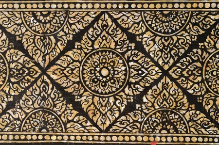 Thai pattern on marble