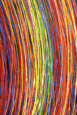Stripe pattern paint oil colors on canvas