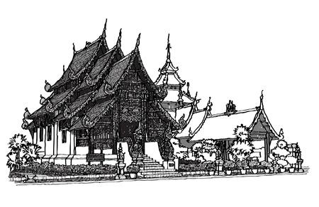 Lanna Temple sketchbook