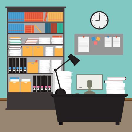 Vector Office room interior
