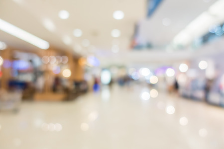Abstract Blur modern Shopping mall for background