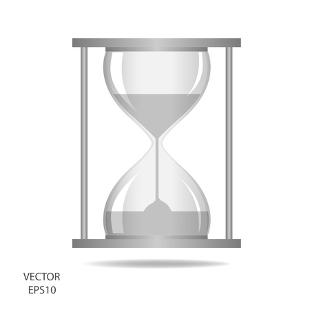 hourglass, sand glass, sand timer, sand clock isolated on the white background,vector