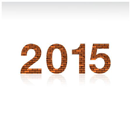 Creative happy new year 2015 text design. Vector illustration.