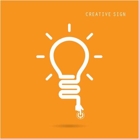 Creative light bulb concept, design for poster flyer cover brochure, business idea, education concept.vector illustration