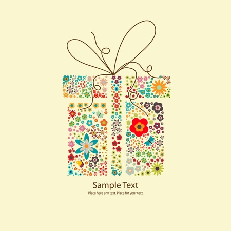 gift with small flowers