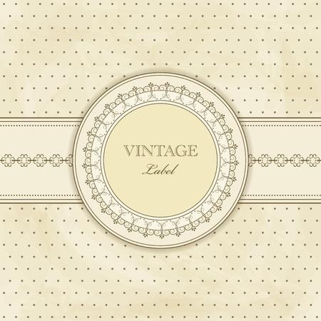 Vektor für  vintage pattern for  invitation - Lizenzfreies Bild