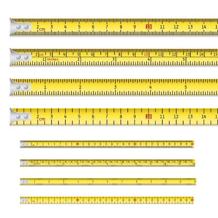 Tape measures inc inches and centimetres