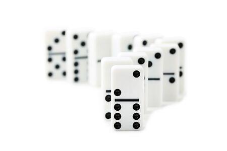 Foto de Dominoes isolated on white background - Imagen libre de derechos