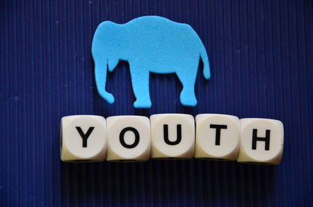 WORD YOUTH on an abstract background