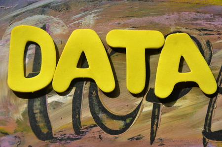 wor data on an abstract background