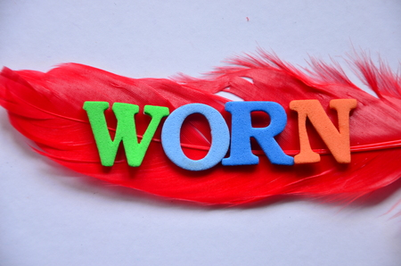 word worn on an abstract background