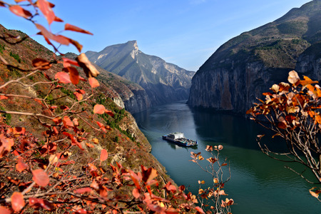 Scenery of Yangtze River at Qutang Gorge, China