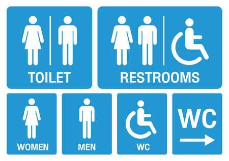 Illustration pour toilet signs. set toilet signs illustration vector. - image libre de droit