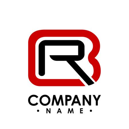 BR letter logo design vector illustration template, B letter logo vector, letter B and R logo vector, creative Letter BR letter logo