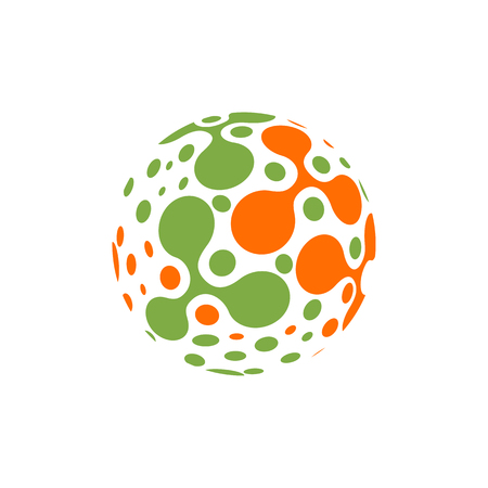 Illustration pour Abstract sphere molecules design. Vector illustration. Group of atoms for chemistry concept - image libre de droit