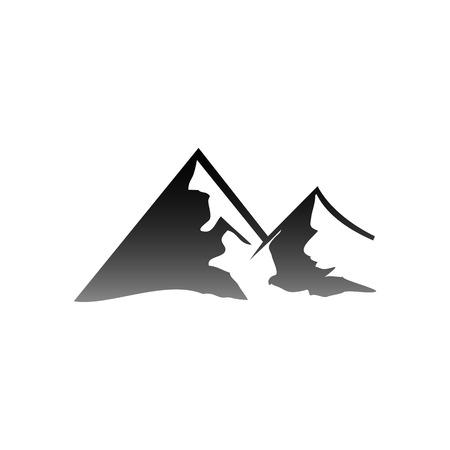 Illustration pour Vector Illustration of Mountain Logo. Outdoor Adventure and Expedition - image libre de droit