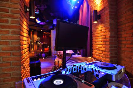 Foto de DJ counter at  loft bar style - Imagen libre de derechos