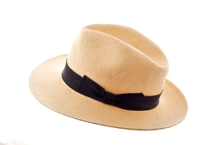 Foto de Panama hat isolated on white - Imagen libre de derechos