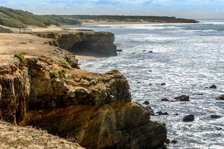Atlantic coast at Jard-sur-Mer, department Vendee, france
