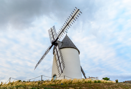 Windmill at the sea in Jard-sur-mer, Vendee, France