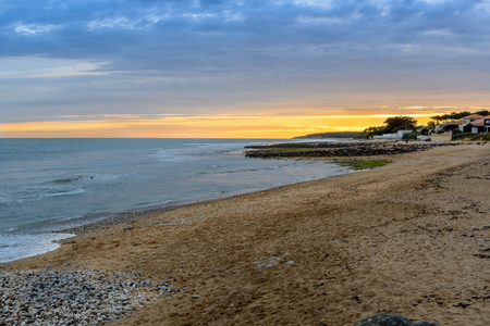 evening at Jard-sur-Mer, Vendee, France