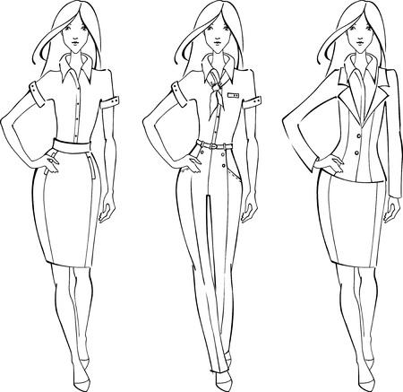 Sketch of businesswoman