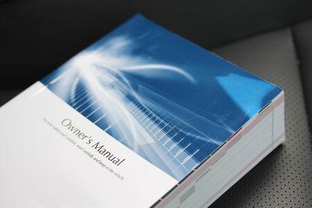 Photo pour Vehicular Owner's Manual - image libre de droit