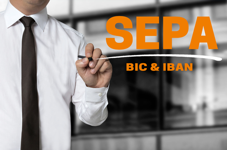 SEPA is written by businessman background concept.